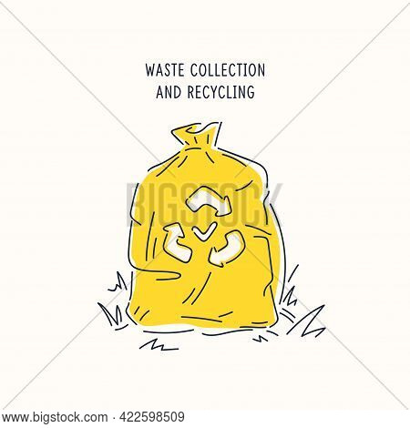 A Poster Dedicated To The Collection And Recycling Of Garbage. Vector Illustration.