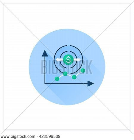 Economy Expansion Flat Icon. Increase In Economic Level Activity.economical Fluctuation. Business Co