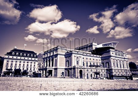 A View Of Royal Swedish Opera House In Stockholm In Sweden