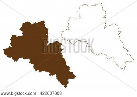 Mittelsachsen District (federal Republic Of Germany, Rural District Swabia, Free State Of Saxony) Ma