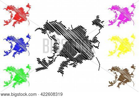 Waco City, Texas (united States Cities, United States Of America, Usa City) Map Vector Illustration,