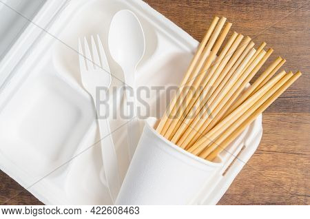 Eco Friendly Biodegradable Paper Disposable For Packaging Food With Wheat Straw For Drinking Water O