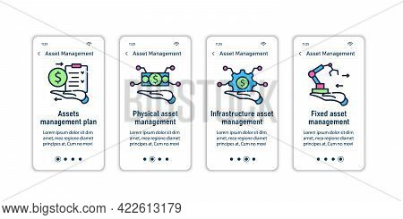 Asset Management Onboarding Mobile App Screens.infrastructure, Fixed, Physical Management. Control S