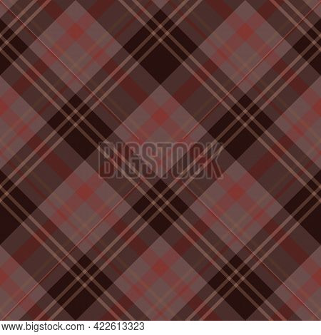 Seamless Pattern In Cozy Colors For Plaid, Fabric, Textile, Clothes, Tablecloth And Other Things. Ve