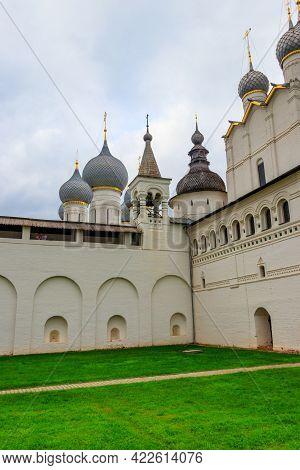 Architectural Ensemble Of The Rostov Kremlin In Rostov Veliky, Russia. Golden Ring Of Russia