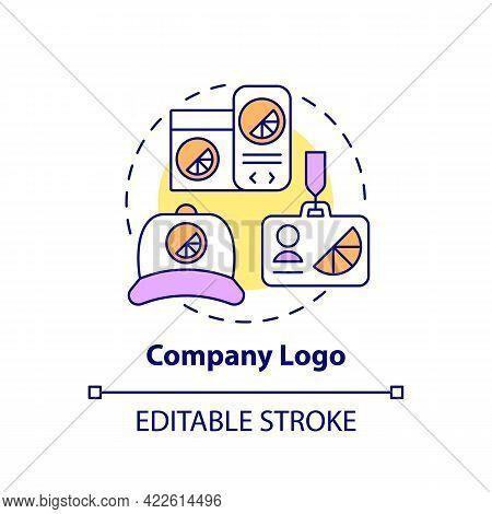 Company Logo Concept Icon. Corporate Branding Abstract Idea Thin Line Illustration. Identifying Bran