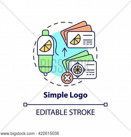 Simple Logo Concept Icon. Logotype Design Principle Abstract Idea Thin Line Illustration. Clarity An