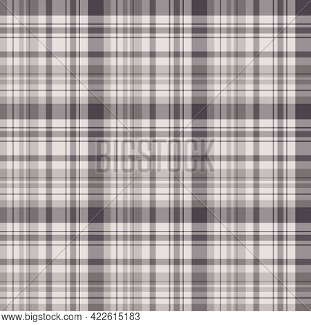 Seamless Pattern In Gray For Plaid, Fabric, Textile, Clothes, Tablecloth And Other Things. Vector Im