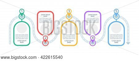 Decision Making Steps Vector Infographic Template. Investigation Presentation Design Elements With T