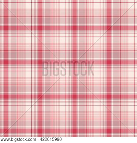 Seamless Pattern In Light Pink Colors For Plaid, Fabric, Textile, Clothes, Tablecloth And Other Thin