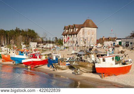 Fishing Boats - Ships On The Shoreline Harbor