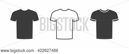 T-shirts Icon. Sport T-shirt Icon. Clothes Icon Flat Style. Vector Illustration
