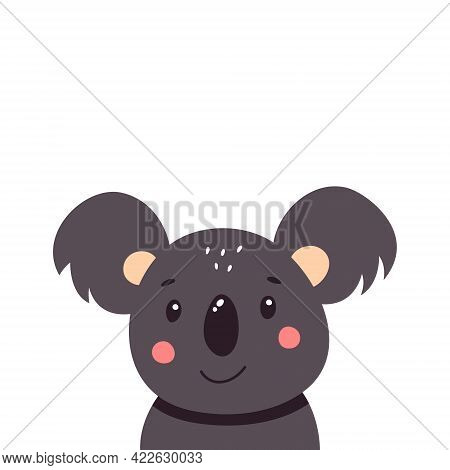 Cute Koala. Vector Illustration Isolated On White Background