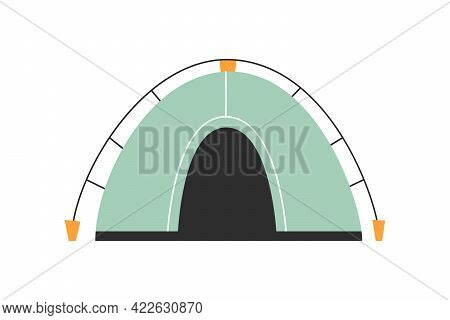 The Only Canvas Tent On A White Background. Vector Illustration