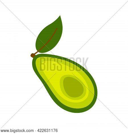 Avocado Icon. Flat Illustration Of Avocado Vector Icon Isolated On White Background