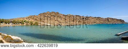 Monastiri Beach (the Beach Of The Monastery Of Agios Ioannis) Located In A Small Rocky Bay Surrounde