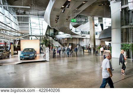 Munich, Germany - September 14, 2018: Bmw Cars Showroom In Bmw Center.