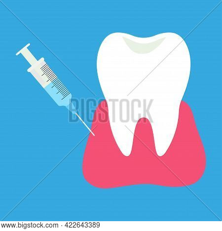 Dentistry Anesthesia, Injection Of Anesthesia For Treatment Of Tooth