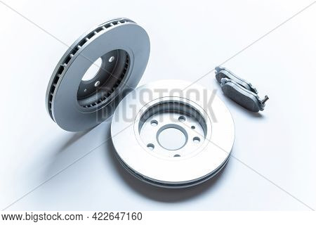 Automotive Parts. New Metal Car Part. Auto Motor Mechanic Spare Or Automotive Piece Isolated On Whit