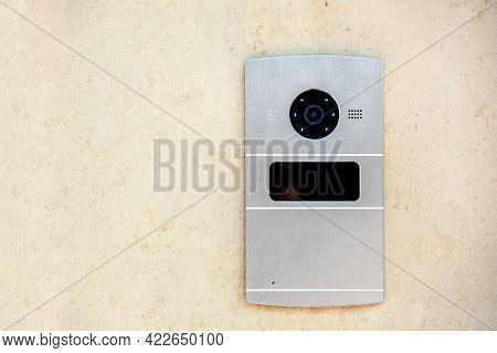 Intercom With Camera And Card Reader For Safe Access, Access Control System From Thieves And Crimina