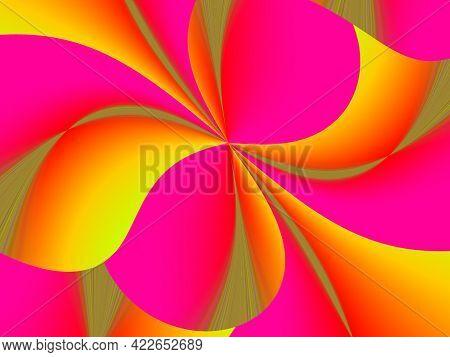 Abstract Advertising, Pink Yellow Decorative Fluorescent Elegant Creative Vibrant Modern Background