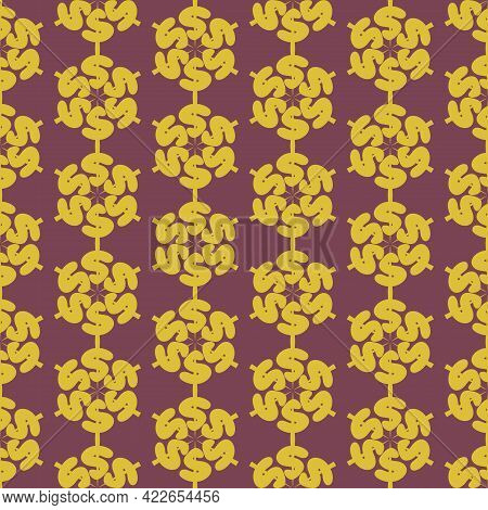 Ornament Reverse Question, Abstraction. Seamless Pattern. For Backgrounds And Textures. Illustration