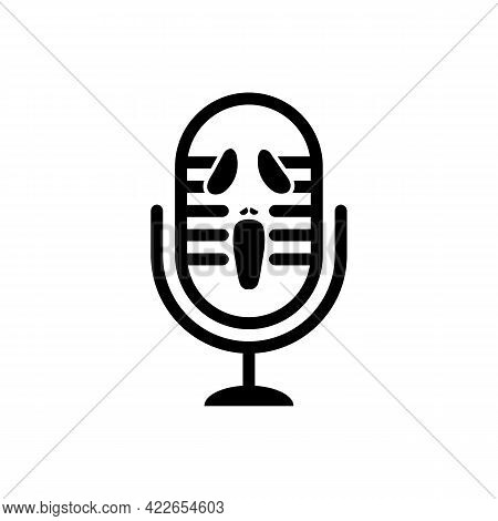 Illustration Vector Design Graphic Of Horror Podcast Logo