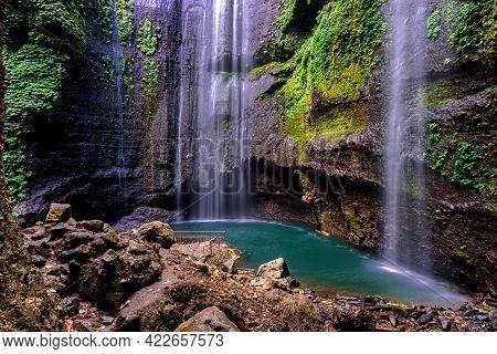 Madakaripura Waterfall (probolinggo) Is The Tallest Waterfall In Deep Forest In East Java, Indonesia