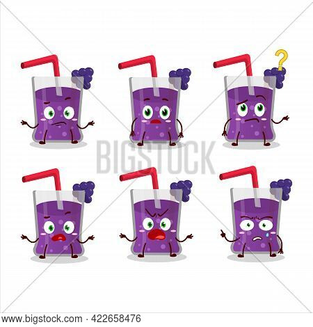 Cartoon Character Of Grapes Juice With What Expression