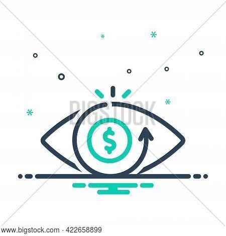 Mix Icon For Vision Eyesight Perception View Eye Optics Sight Seeing