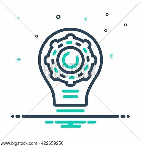 Mix Icon For Creative-production Creative Production Innovative Inventive Manufacture Technology