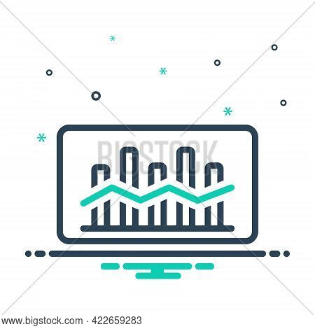 Mix Icon For Market-trend Market Trend Tendency Statistic Arrow Finance Graphic Economic Increase