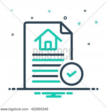 Mix Icon For Contract Agreement Bond Appendage Guarantee Pledge Contracting  Paperwork Invoice Legal