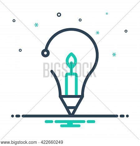 Mix Icon For Creative Inventive Enterprising Visionary Prolific Concept Candle Idea