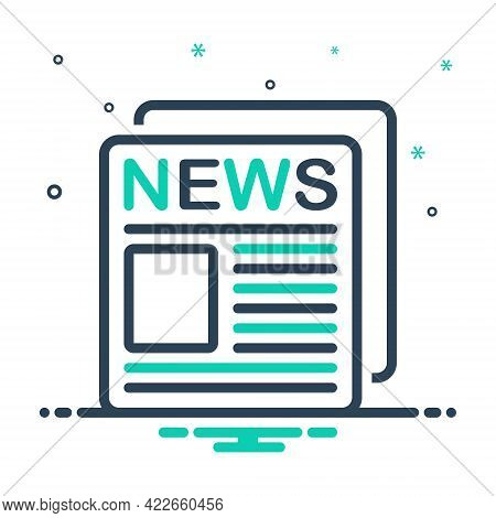 Mix Icon For News-ad News Ad Broadcast Advertisement Massage Advertising News-paper
