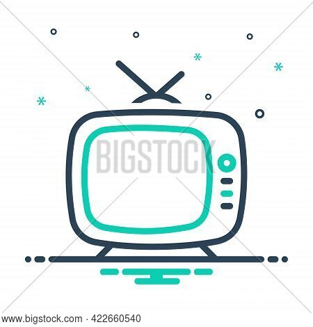 Mix Icon For Vintage-television Vintage Television Classic Old Antenna Antique Broadcast Multimedia