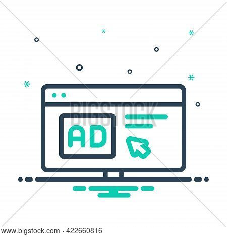 Mix Icon For Click-ad Click Ad Computer Mouse Advertisement Cursor Browser Device