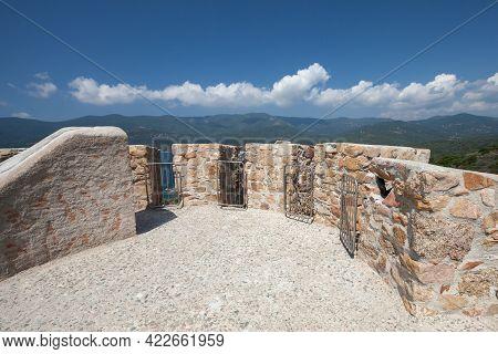 Cupabia Bay View, Campanella Tower Viewpoint. Corsica Island, France. This Coastal Defense Tower Con