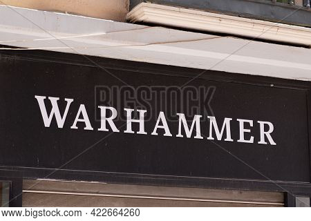 Bordeaux , Aquitaine France - 06 01 2021 : Warhammer Text Sign And Logo Brand Shop Signage  Speciali