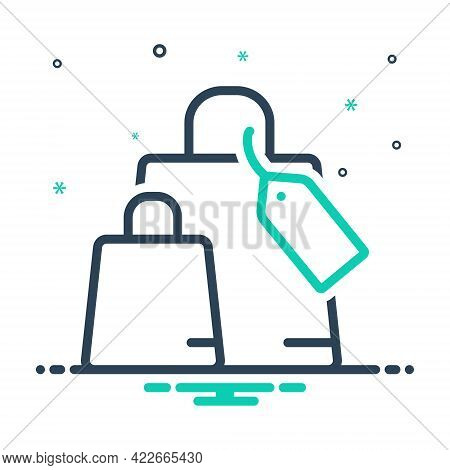 Mix Icon For Shopping Bag Browsing Spending Purchasing Ecommerce Supermarket Tag Carry Purchase