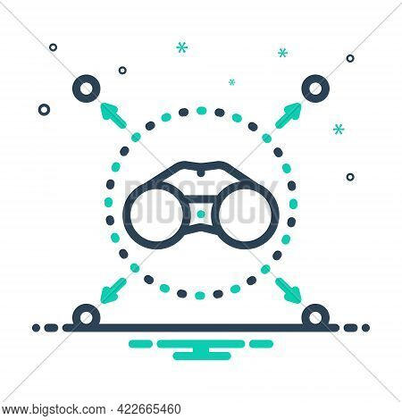 Mix Icon For Vision Gadget Eyesight Binocular Spectator Zoom Discovery Watch