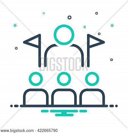 Mix Icon For Leadership  Hegemony Pilotage  Supremacy  Supremacy Manager Lead Guidance Administratio