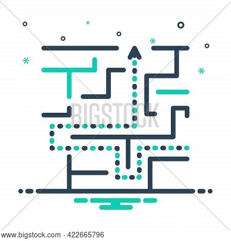 Mix Icon For Maze Complication Imbroglio Intricacy Meander Twist Puzzle