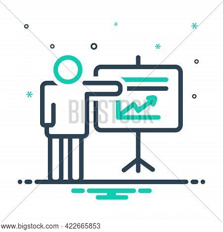 Mix Icon For Project Activity Venture Task Chart Presentation Whiteboard Seminar Display