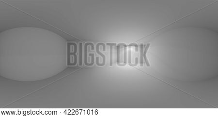 Abstract Dark Empty Room With Wall Lamp Light On The Wall, Floor And Ceiling Without Any Textures, C