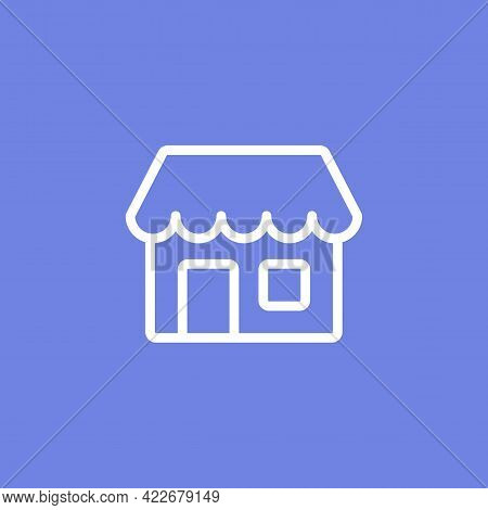 Simple Shop Store Icon Symbol With Line Outline Style