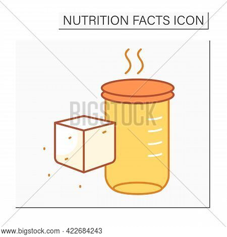 Sugar Alcohols Color Icon. Sugar Carbohydrate. Nutrient Supplements. Nutrition Facts. Healthy, Balan
