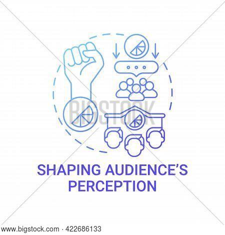 Shaping Audience Perception Concept Icon. Strong Brand Abstract Idea Thin Line Illustration. Custome