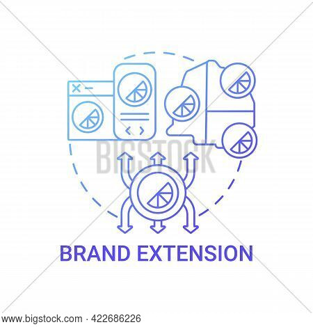 Brand Extension Concept Icon. Brand Change Type Abstract Idea Thin Line Illustration. Category Stret