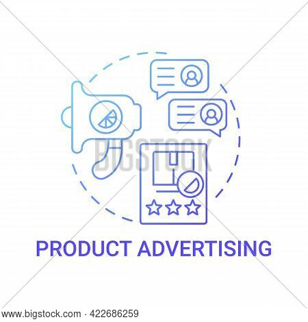Product Advertising Concept Icon. Corporate Branding Abstract Idea Thin Line Illustration. Promotion